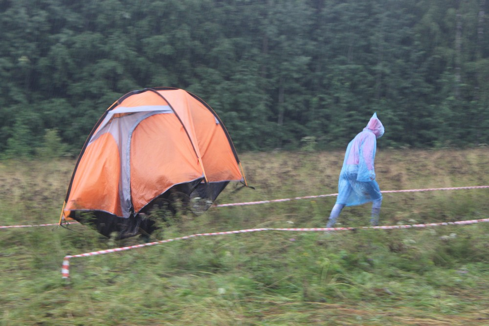 Человек-палатка